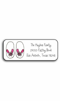 personalized address labels – flip flops