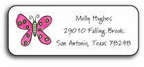 personalized address labels � flutter butterfly