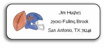 personalized address labels � football fanatic