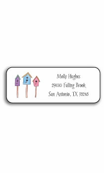 personalized address labels – for the birds