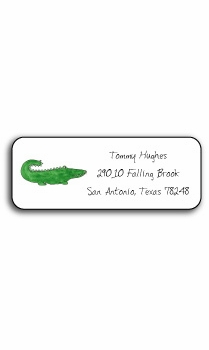 personalized address labels – green gator