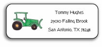 personalized address labels � green tractor
