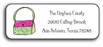 personalized address labels � handbag haven