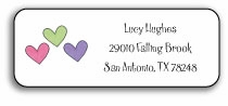 personalized address labels � hearts are wild