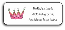 personalized address labels � little princess