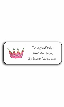 personalized address labels – little princess