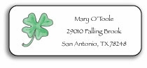 personalized address labels � lucky clover