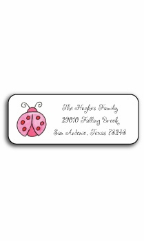 personalized address labels – lucky ladybugs