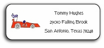 personalized address labels � on your mark