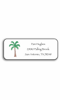 personalized address labels – palm paradise