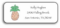 personalized address labels � pineapple