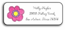 personalized address labels � pink daisy