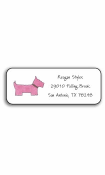 personalized address labels – preppy pink