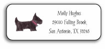 personalized address labels � preppy pups