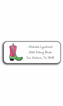personalized address labels – rhinestone cowgirl