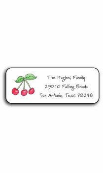 personalized address labels – rosy red cherries