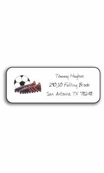 personalized address labels – soccer stud