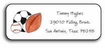 personalized address labels � sports fan