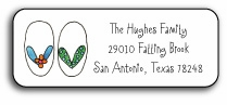 personalized address labels � summer flip flops