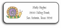 personalized address labels � swirly snail