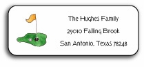 personalized address labels � tee it up