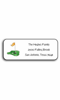 personalized address labels – tee it up