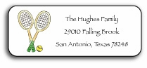 personalized address labels � tennis pro