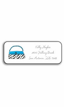 personalized address labels – wild for purses