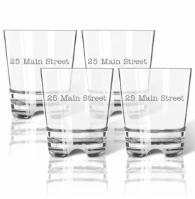 Personalized Address : Old Fashioned - Set Of 4 (Unbreakable)