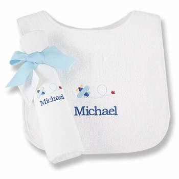 personalized airplane bib