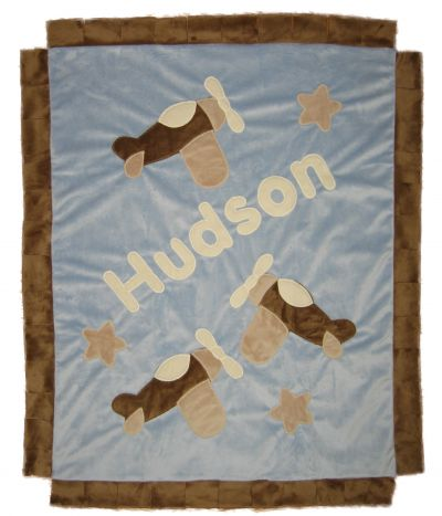 Personalized Airplane Blanket