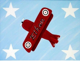 personalized airplane wall art