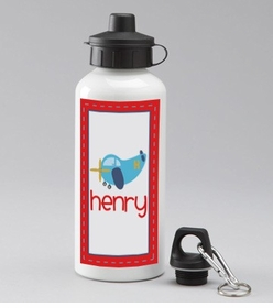 personalized airplane water bottle