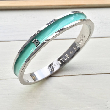 personalized alphabet initial bangle