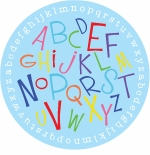 personalized alphabet soup plate (style 1p)