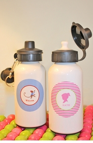personalized aluminum water bottle, 400 ml.