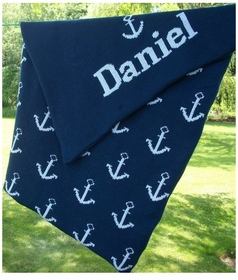 personalized anchor baby blanket