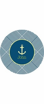 personalized anchor  boy plate (style 2p)
