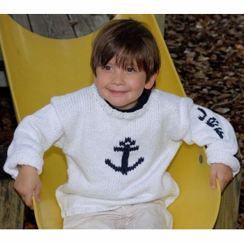 personalized anchor sweater