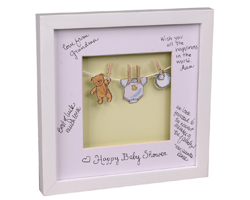 personalized baby announcement frame featured at babybox.com