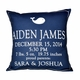 personalized baby announcement pillow