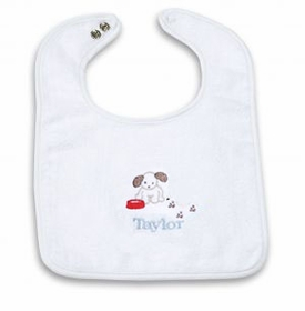 personalized baby bib - puppy