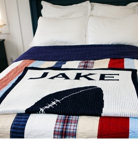 personalized baby blanket with football