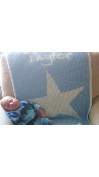 personalized baby blanket with star and name