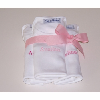 personalized baby bodysuits set of 3