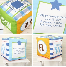 personalized baby boy block (bright) - unavailable