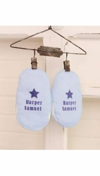 personalized baby boy booties - currently not available