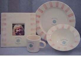 personalized baby dish set
