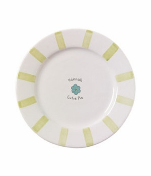 personalized baby dish set - cutie pie