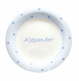 personalized baby dot plate